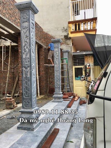 Cột hiên bằng đá