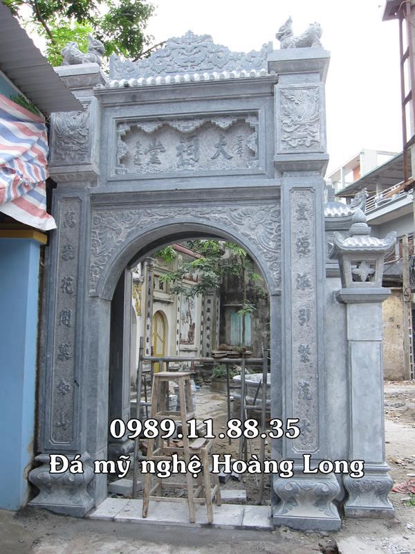 Làm cổng đền bằng đá