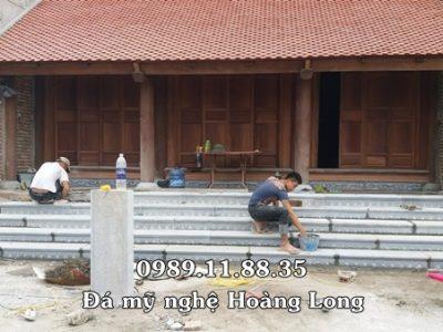 Làm bậc tam cấp đá nhà thờ họ tại Nam Định