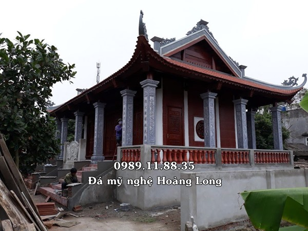 Làm cột đá đình chùa