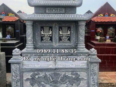 Làm mộ đôi bằng đá tại Vĩnh Phúc