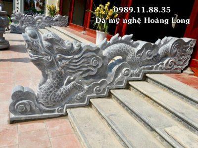 Làm rồng đá bậc thềm tại đình chùa