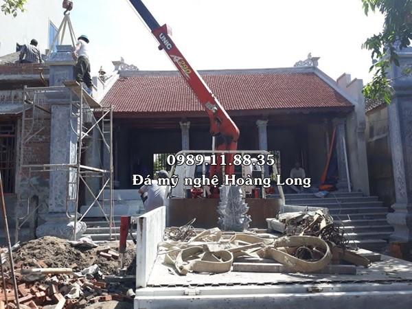 Lắp cột đá đồng trụ