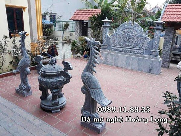 Lắp đặt đồ thờ đá nhà thờ dòng họ