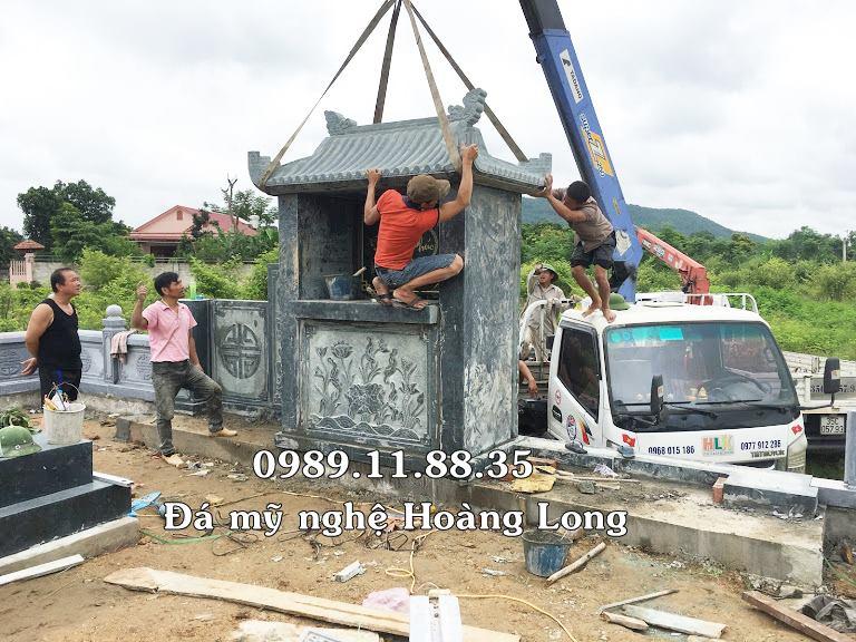 Lắp đặt lăng mộ đá tự nhiên