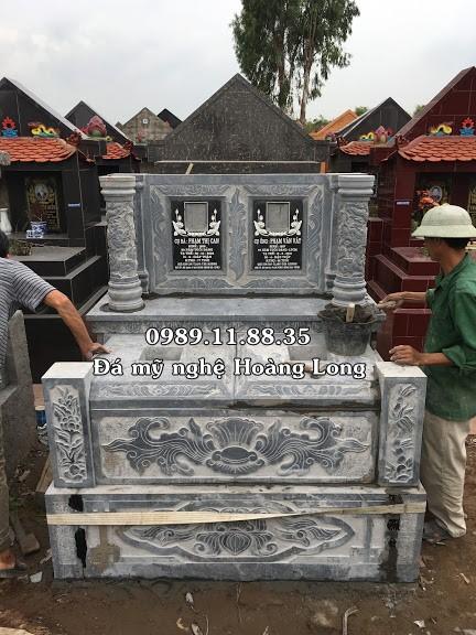 Lắp đặt mộ đá đôi