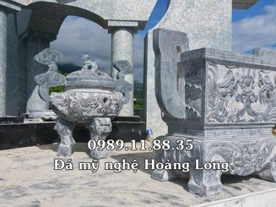 Lắp đặt lư hương đá tại Lai Châu