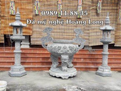 Lư hương đèn đá đình chùa tại Hà Nội