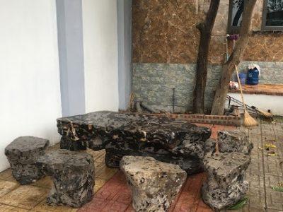 Bộ bàn ghế đá tự nhiên bán tại Hải Phòng