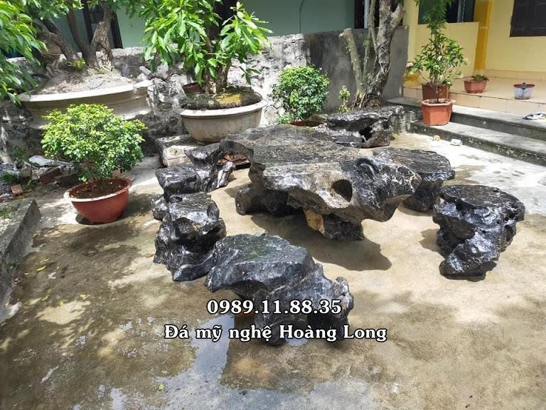 Mẫu bàn ghế đá tự nhiên