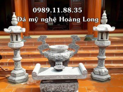 Mẫu bàn lễ đá đặt tại đình chùa