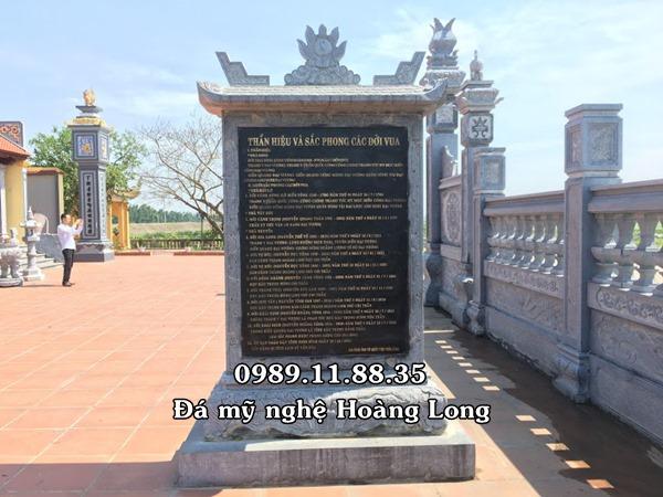 Mẫu bia đá tự nhiên làm lại Ninh Bình