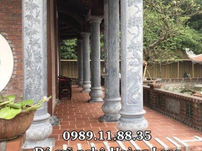 Mẫu cột đá đình chùa đẹp