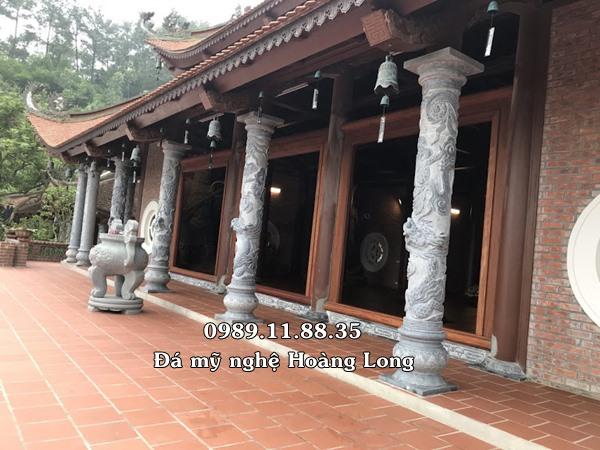 Mẫu cột đá hiên đình chùa