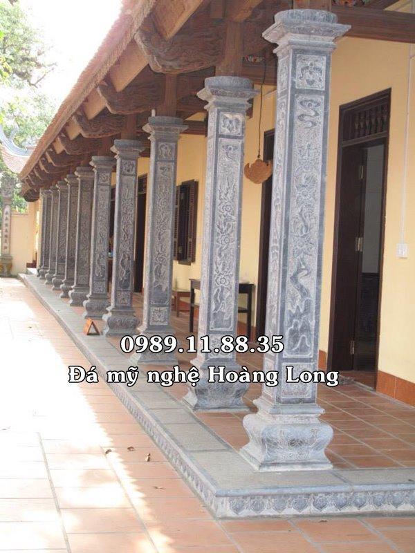 Mẫu cột đá nhà thờ họ chế tác tại Ninh Bình