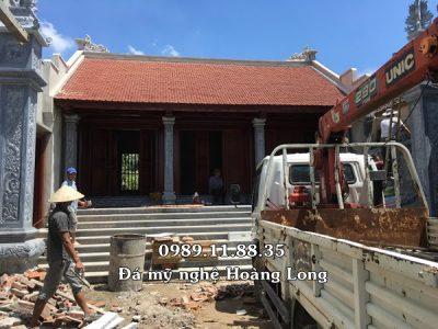 Lắp đặt cột đá và bậc tam cấp đá tại Quảng trị