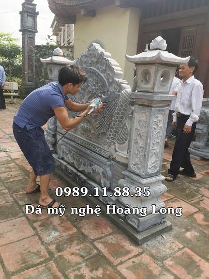 Lắp đặt cuốn thư đá đình làng tại Bắc Ninh