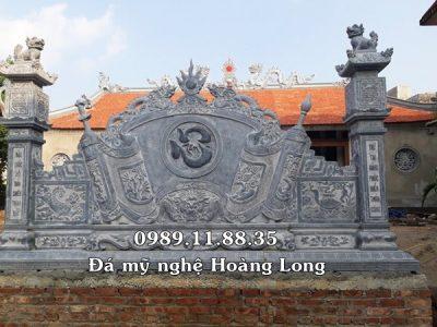 Bình phong đình chùa bằng đá