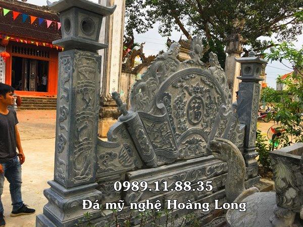 Bình phong đình làng bằng đá