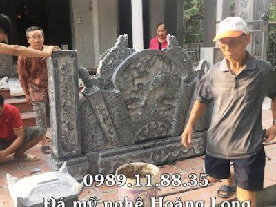 Lắp đặt cuốn thư đá nhà thờ họ Nguyễn Kim tại Thái Bình
