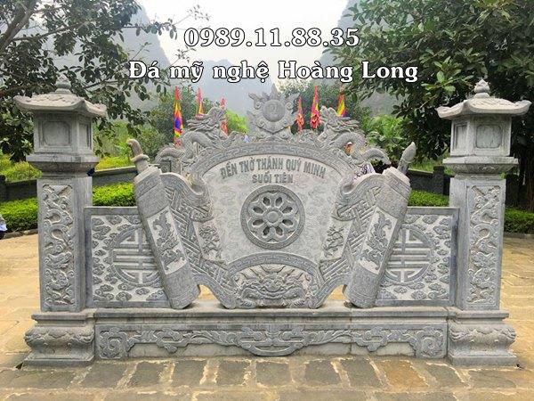 Cuốn thư đá đẹp tại đền thờ