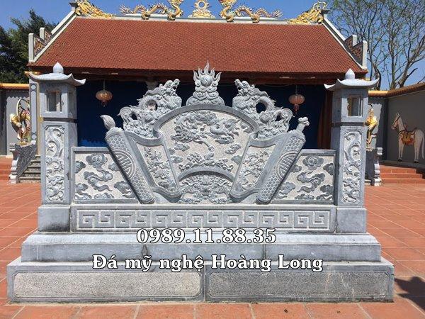 Cuốn thư đá đình chùa đẹp