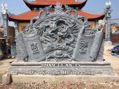 Hình ảnh cuốn thư đá đình chùa đẹp