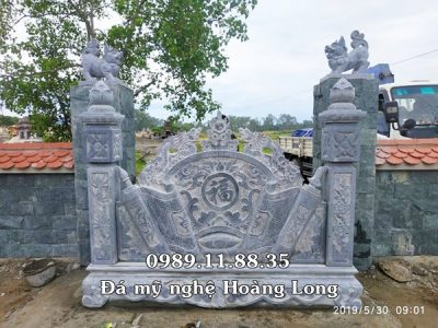 Điêu khắc cuốn thư bằng đá