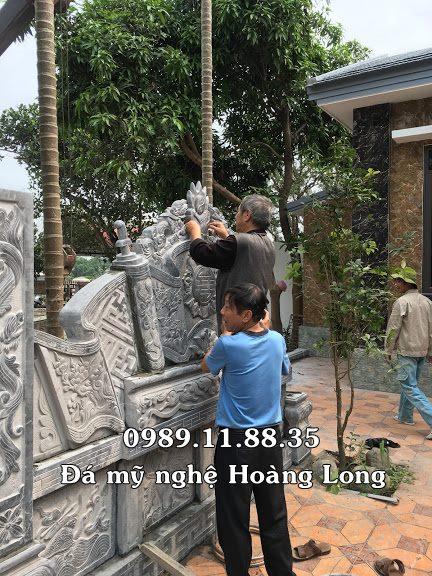 Làm cuốn thư nhà thờ họ bằng đá tại Hà Nội