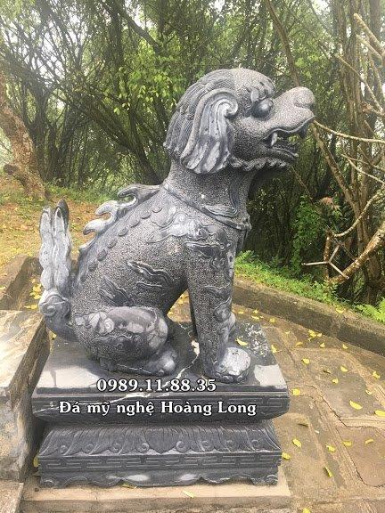 Làm nghê đá thuần Việt lắp đặt tại nhà thờ họ