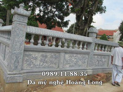 Lan can đá đình chùa