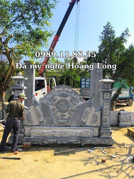 Lắp đặt bình phong đá tại Quảng Trị