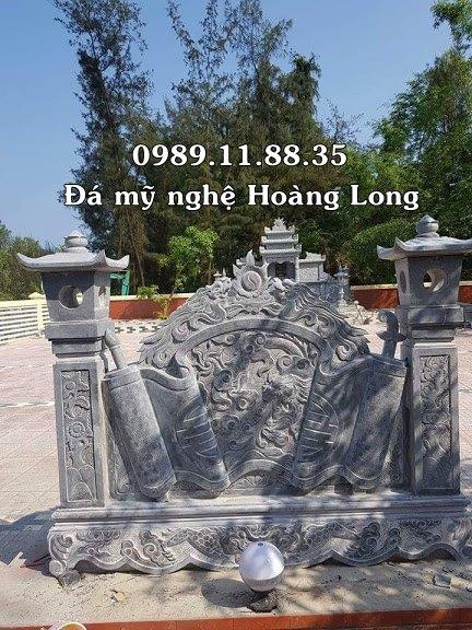 Lắp đặt cuốn thư tại lăng mộ