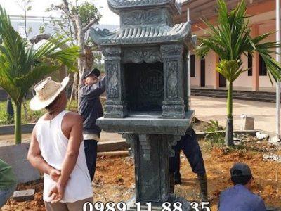 Mẫu bàn thờ thiên đá xanh rêu tại Long An