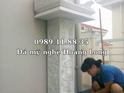 Bàn thờ thiên đơn giản bằng đá trắng tại Nghệ An