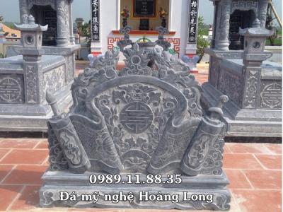 Cuốn thư đá đặt tại khu lăng mộ
