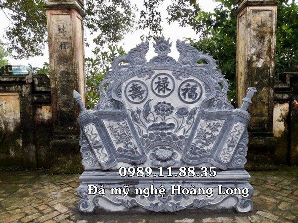 Mẫu cuốn thư đá đẹp đặt tại đình chùa