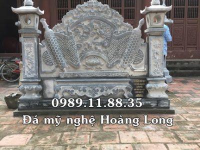 Mẫu cuốn thư đá đình làng lắp tại Bắc Ninh