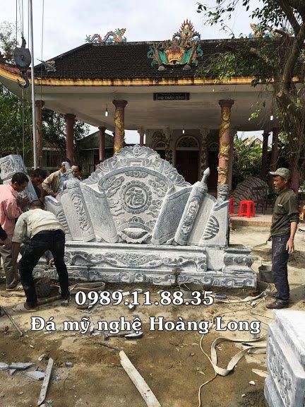 Mẫu cuốn thư đá làm tại Quảng Trị