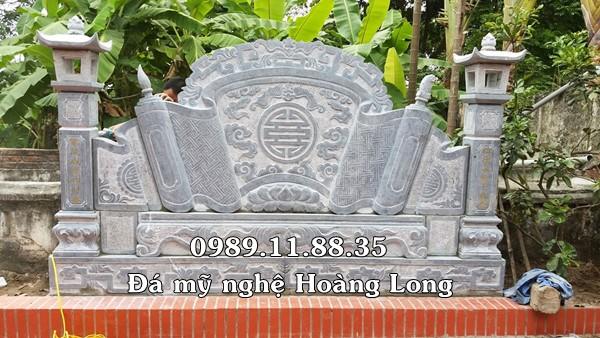 Mẫu cuốn thư đá nhà thờ họ