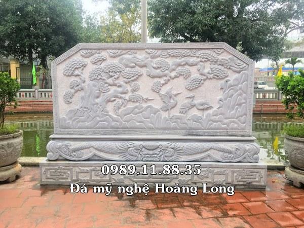 Mẫu cuốn thư đá trắng làm tại đình làng