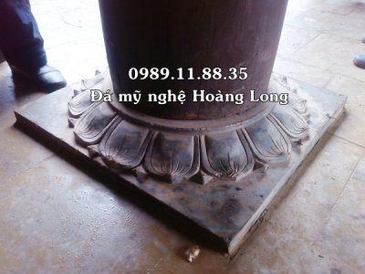 Mẫu đế kê cột bằng đá lắp tại đình chùa