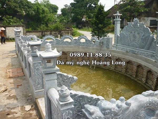 Mẫu hồ bán nguyệt đình chùa