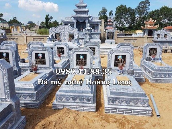 Làm lăng mộ bằng đá xanh tự nhiên