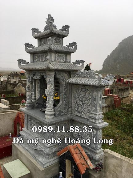 Lăng thờ chung bằng đá xanh khối