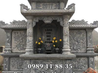 Lăng thờ tổ họ bằng đá làm tại Hà Tĩnh