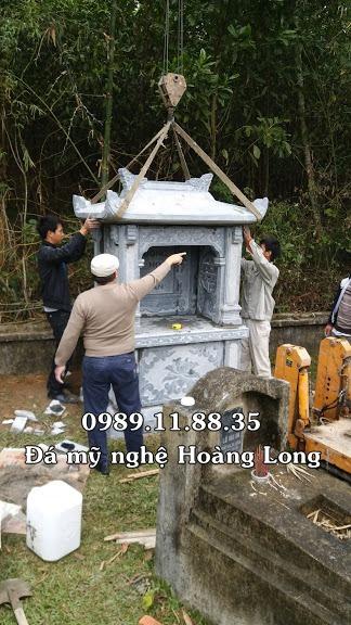 Long đình đá lắp đặt tại khu lăng mộ Lạng Sơn