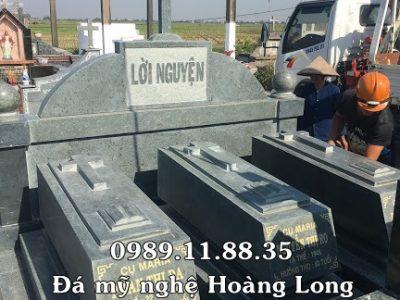 Mẫu lăng mộ đá công giáo bằng đá xanh rêu