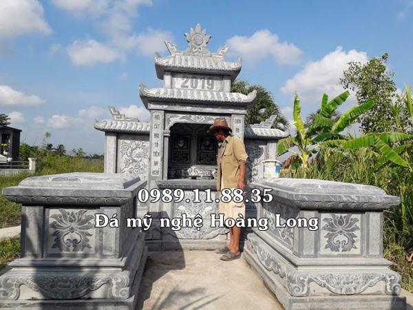 Mẫu lăng mộ đá đẹp lắp tại Quảng Trị