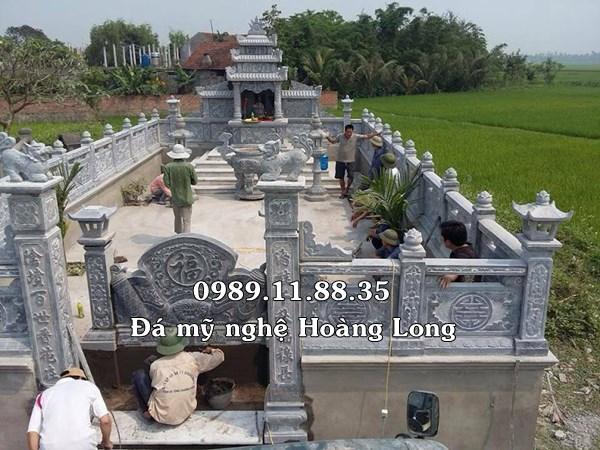 Mẫu lăng mộ đá gia đình đẹp lắp đặt tại Vĩnh Phúc